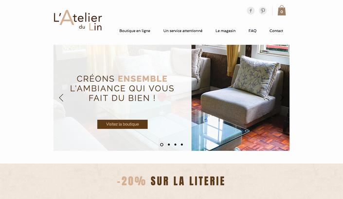 Site eCommerce   L'Atelier du Lin