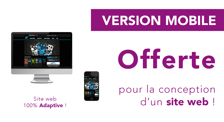 PROMO version mobile offert pour la conception d'un site web