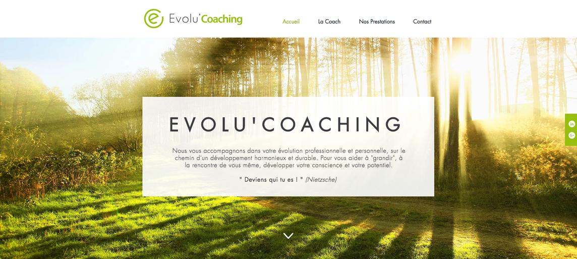 Site vitrine   Evolu'Coaching