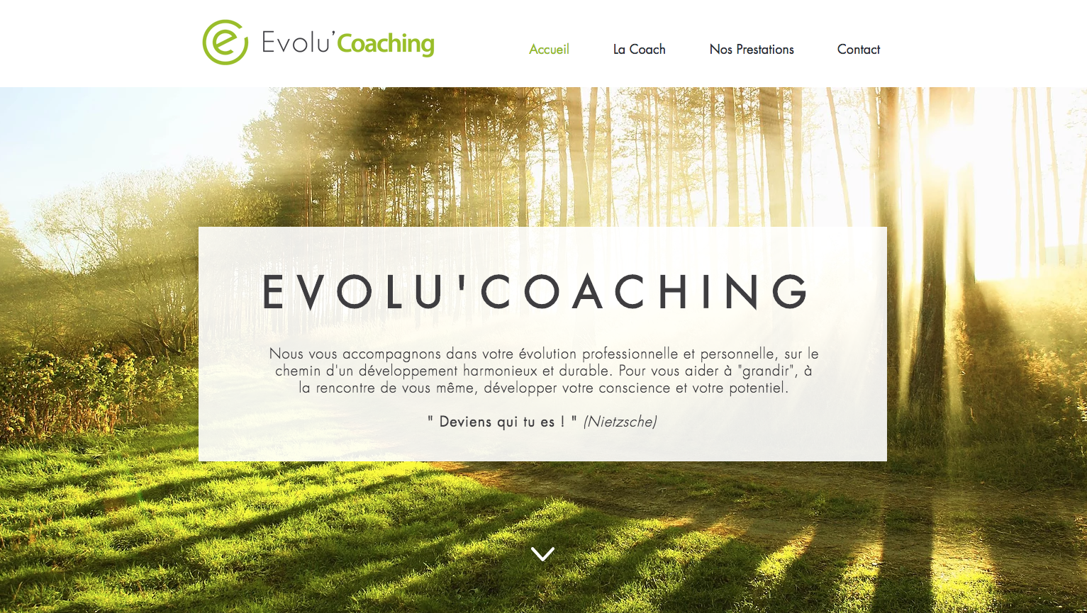 Site vitrine | Evolu'Coaching