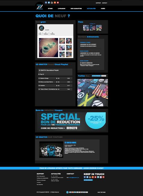 Site eCommerce   IZI Snatch