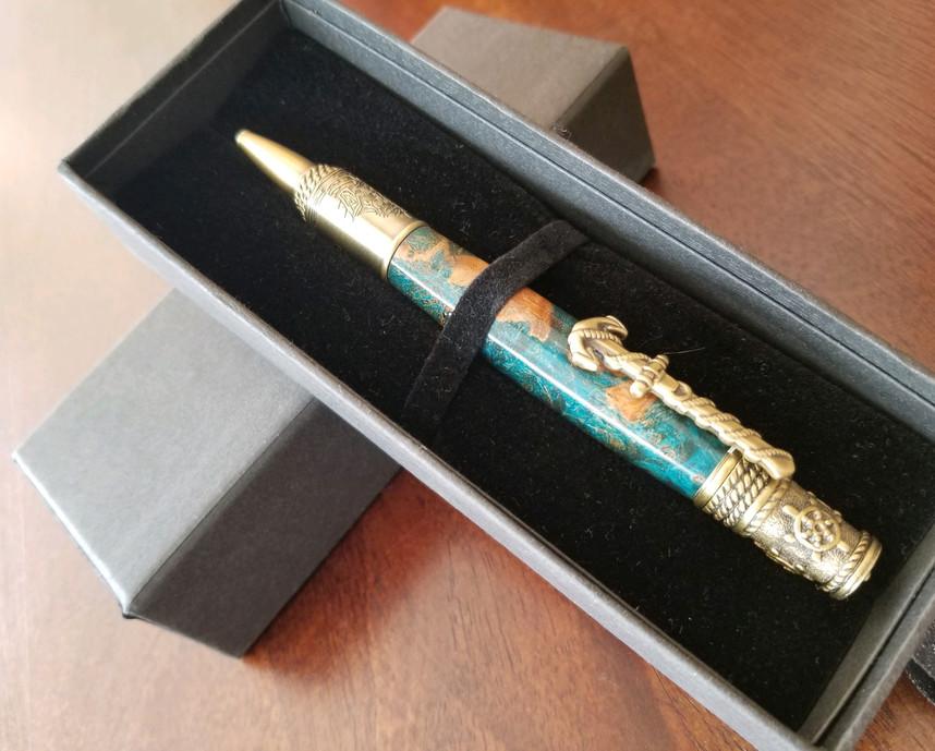 Hand-made pens by Steve Hamer of Bismarck