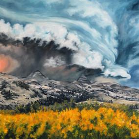 Storm Over Killdeer Mountains