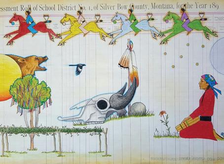 Monte Yellow Bird Sr. conveys modern messages through a traditional tribal art form