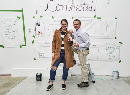 co-artist | co-create | connected. The story how two artists from different mediums connected to co-