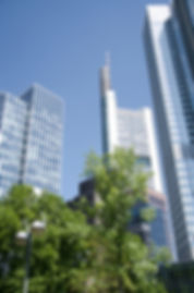 Skyline in Frankfurt - where one of our customers has recently opened a new office