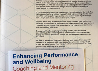 Demonstration of coaching supervision well-received at WIWBL Conference.