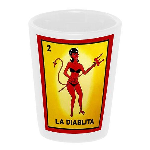 """Loteria: La Diablita"" Shot Glass"
