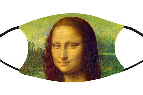Mona Lisa (da Vinci) Adjustable Filter Face Mask w/4 Filters/ S-M/Reusable