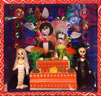 Mexican cajita of Day of the Dead altar