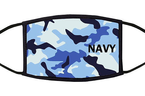 Navy Camouflage Adjustable Face Mask