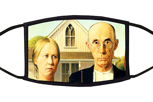 American Gothic Adjustable Face Mask