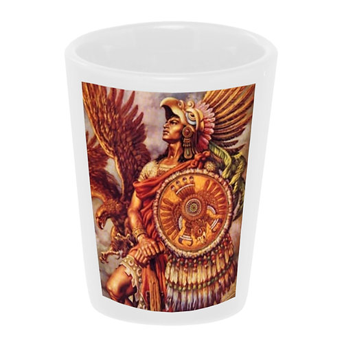 Aztec Warrior Shot Glass