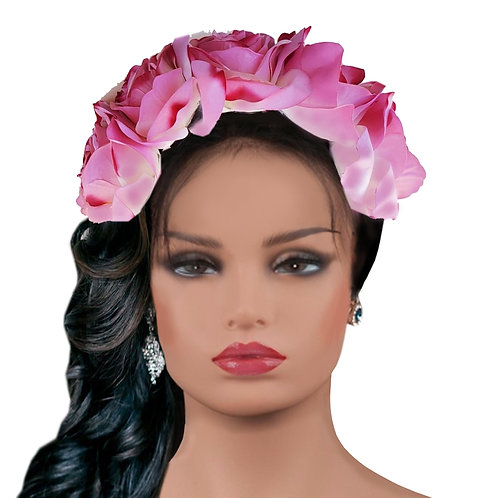 Frida Pretty in Pink Flowers Crown