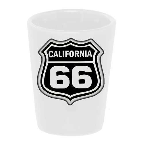 """Route 66: California"" Shot Glass"