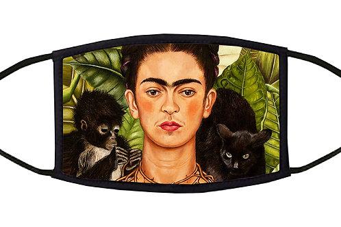 Frida Monkey and Cat Adjustable Face Mask