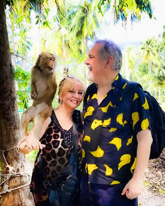 Ginette Rondeau and John Trausch in Thailand