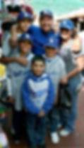 Dodger fans visiting Olvera Street