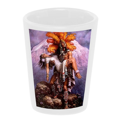 Aztec Warrior with Princess Shot Glass