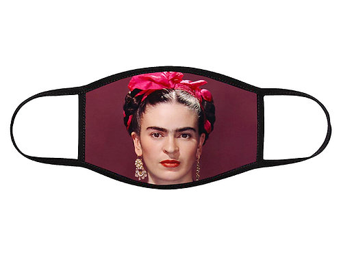 Frida with Pink Bow Face Mask Large/ Washable/ Reusable/ Soft