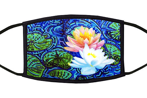 Water Lilly Adjustable Face Mask