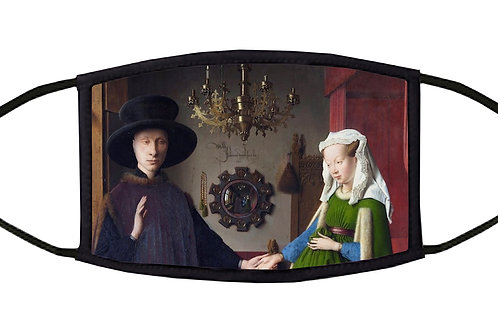The Arnolfini Portrait Adjustable Face Mask