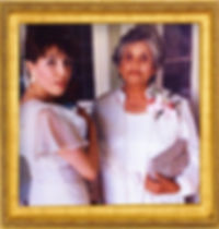 Consuelo G. FLores with her mother