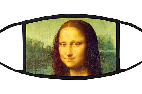 Mona Lisa Adjustable Face Mask
