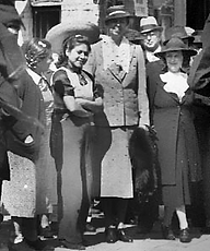 First Lady, Eleanor Roosevelt visits Olvera Street 1941