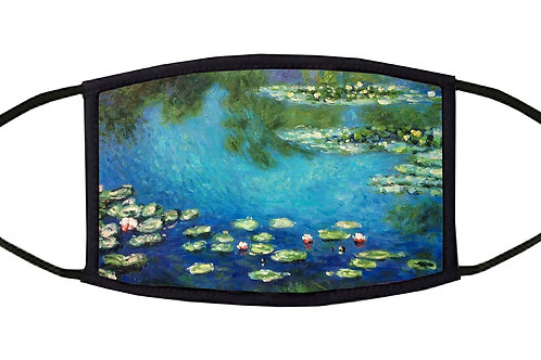 Monet's Water Lilies Adjustable Face Mask