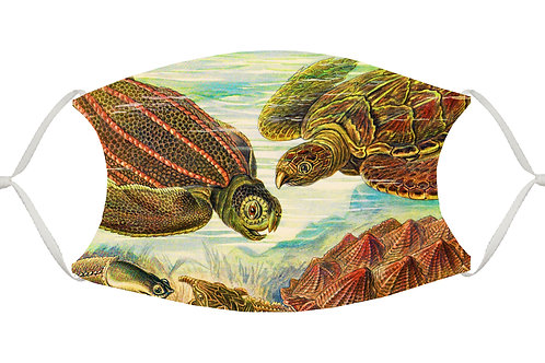 Sea Turtles S-M Adjustable Face Mask