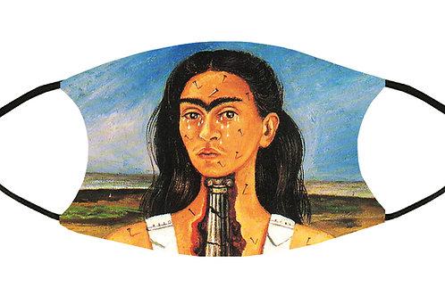 Frida's Broken Column Adjustable Filter Face Mask w/4 Filters/ S-M/ Reusable