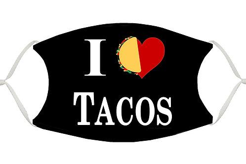 I Love Tacos S-M Adjustable Face Mask