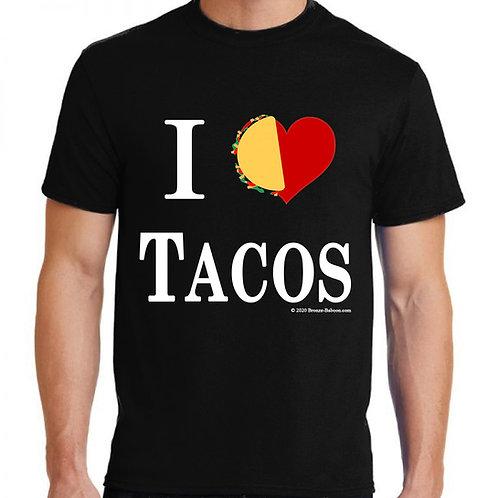 I Love Tacos Adult T-shirt