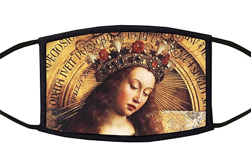 The Madonna of Chancellor Rolin Adjustable Face Mask