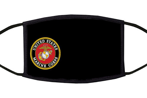 United States Marine  Corps 3-Ply Adjustable Face Mask - Washable and Reusable -