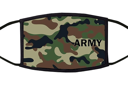 U.S. Army Camouflage Adjustable Face Mask / 3-ply/ Reusable/ Handmade in USA