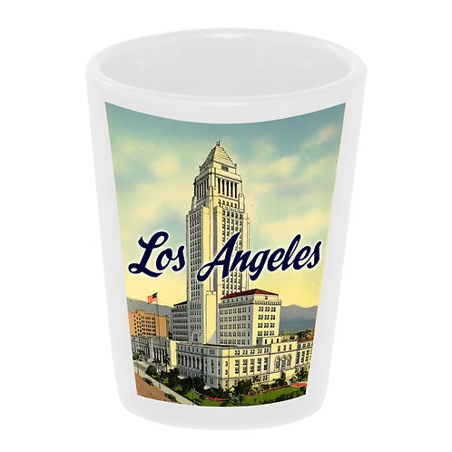 """Los Angeles City Hall"" Shot Glass"