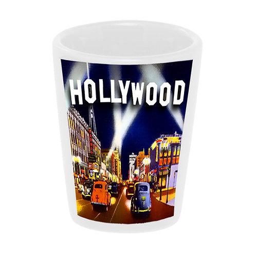 """Hollywood"" Shot Glass Ceramic 1.5 oz./ Handmade in USA"