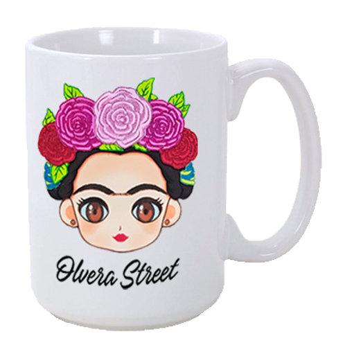 Frida Chula 15 oz. Ceramic Olvera Street Mug