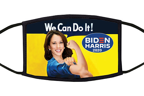 We Can Do It! 2020 Kamala the Riveter Adjustable Face Mask/ 3-ply/ Made in US