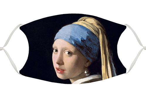 Girl with a Pearl Earring S-M Adjustable Face Mask