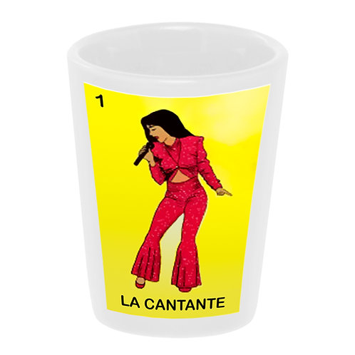 """Loteria: La Cantante"" (the Singer) Shot Glass"