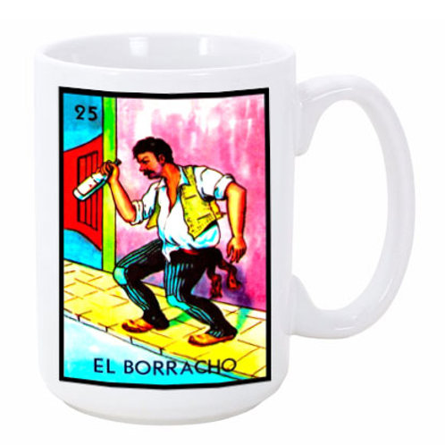 Loteria: El Borracho (the Drunkard) Ceramic Mug