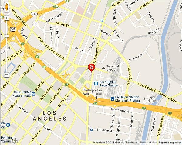 Driving directions to Olvera Street and El Pueblo