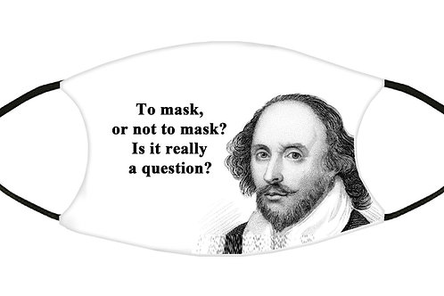To Mask or Not to Mask (Shakespeare?) Adjustable Filter FaceMask S-M w/4 Filters