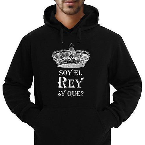 """Soy El Rey ¿Y Que? (""""I'm the King...So What) Adult Hoodie/Sweatshirt"""