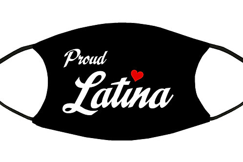 Proud Latina  Adjustable Filter Face Mask S-M w/4 Filters/ Reusable / Washable