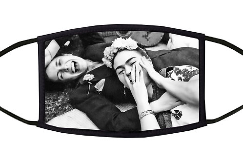 Frida Laughing Adjustable Face Mask