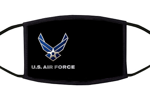 United States Air Force Adjustable Face Mask/ 3-ply/ Reusable/ Handmade in USA
